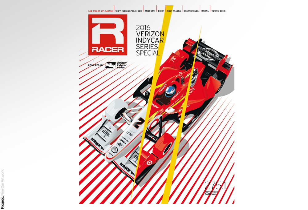 Illustration: RACER Indycar Series 2016 special edition Client: RACER Magazine