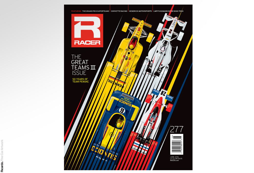 Illustration: 50 years of Team Penske Client: RACER Magazine