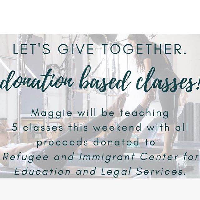 Join us this weekend for 5 donation based classes with @maggie.m.jones . Cash donations at class for @raicestexas ! LET'S GIVE TOGETHER! Link to register in bio!