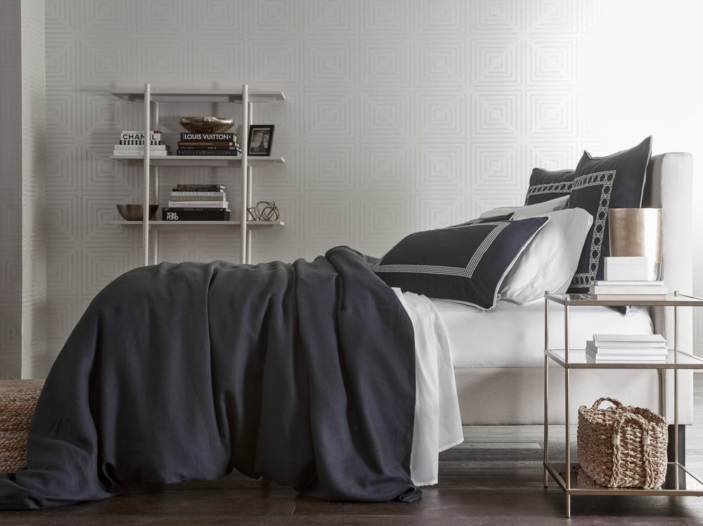 Washed Navy Belgium Linen Collection