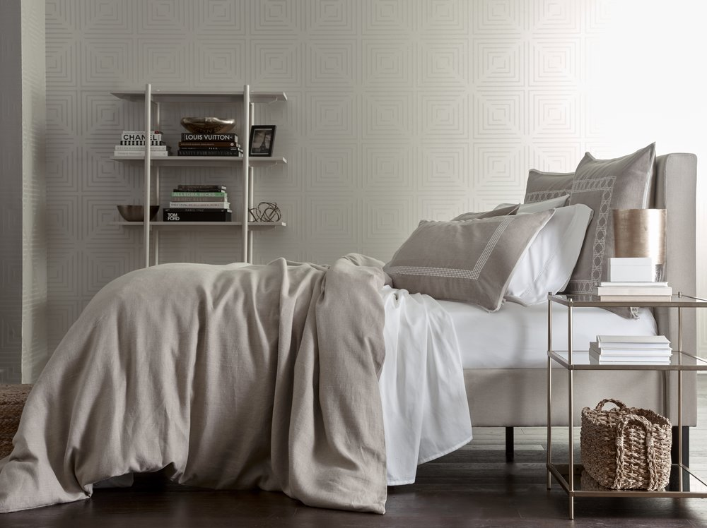 Washed Natural Belgium Linen Collection