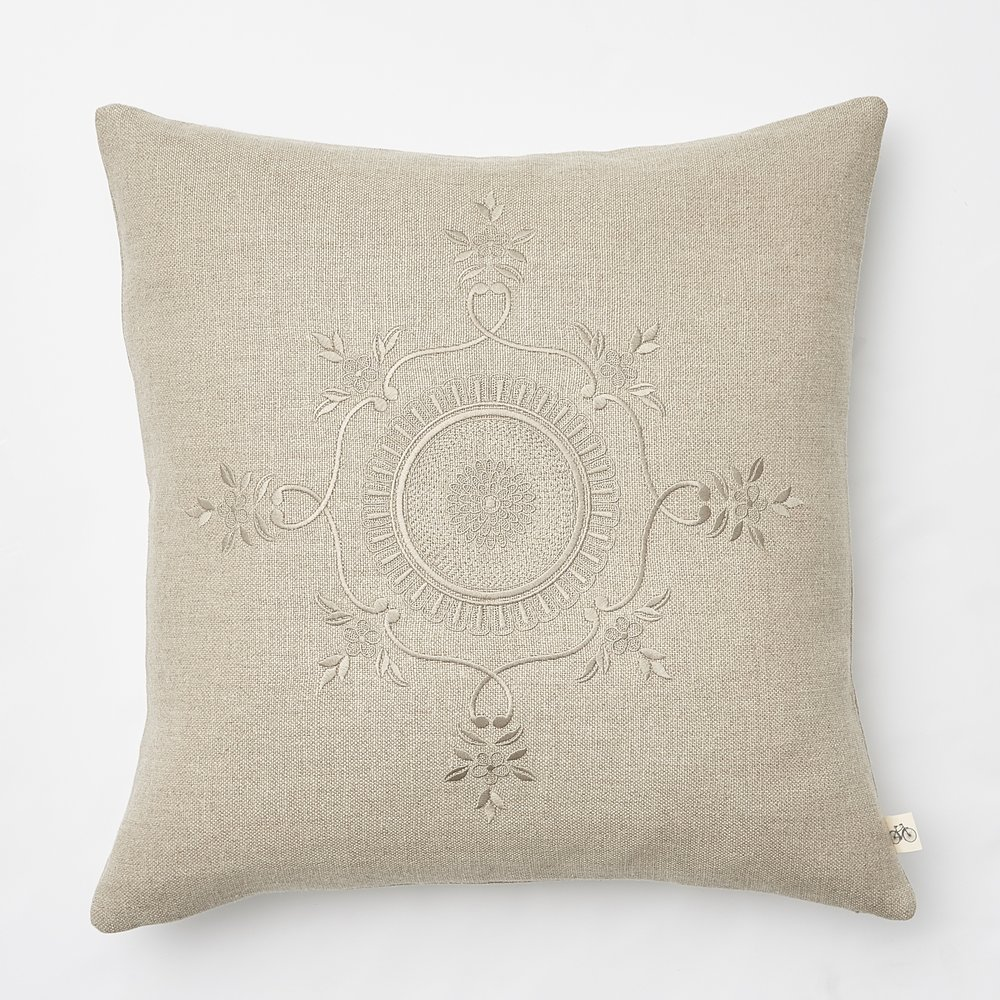 While traveling in  Paris , we visited  Versailles  and were inspired by moldings in  Marie Antoinette's Home. We took the inspiration for this  Circle Medallion pillow  along with all of our  Versailles Toss Pillow Collection . Who doesn't love  Versailles ? We pride ourselves on USA made, but we do get inspired by places all over the world.