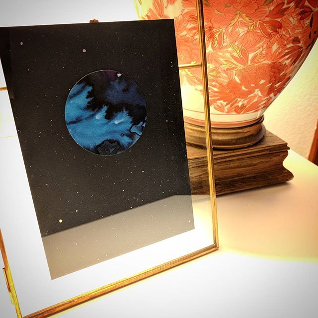 One new moon in a pretty frame, just in time for the holidays.