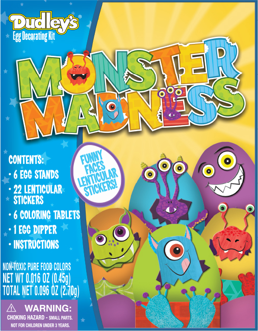 Monster Madness Is A Themed Egg Dye Kit Designed For Walmart During My Time At Paper Magic Group I Had Lot Of Fun Designing The Characters
