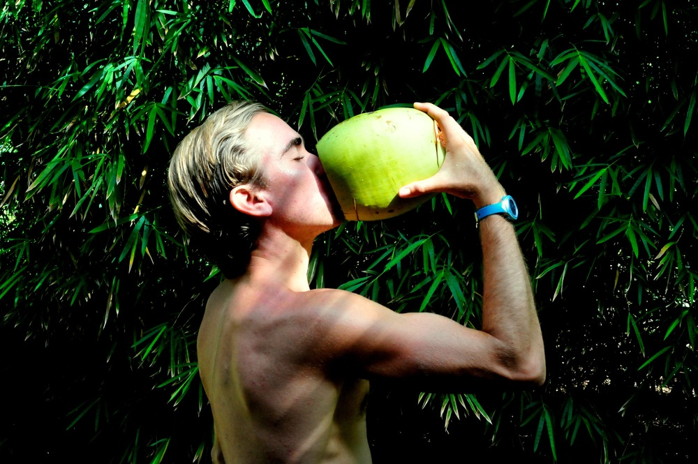 Post run coconut water