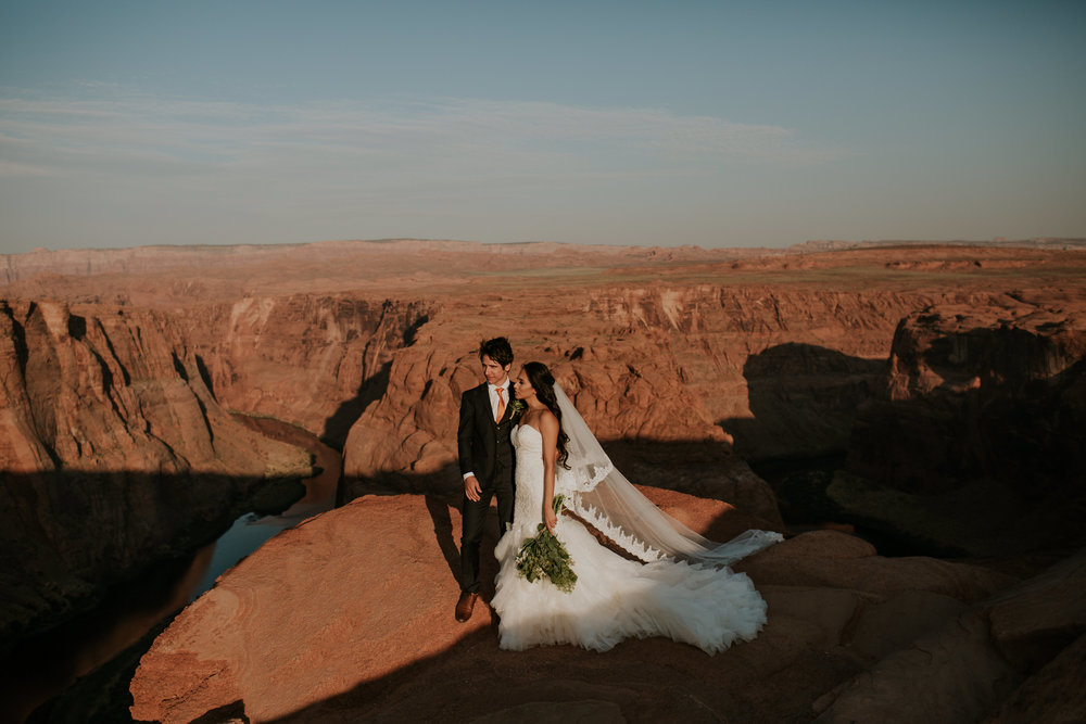 Sandy and Ryan Elopement Intimate wedding in Horseshoe Bend Arizona-429.jpg