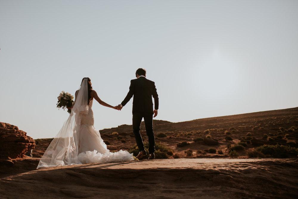 Sandy and Ryan Elopement Intimate wedding in Horseshoe Bend Arizona-455.jpg