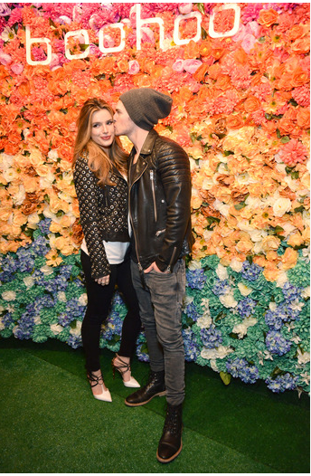 Bella Thorne & Gregg Sulkin at boohoo LA Pop Up Store Opening Party