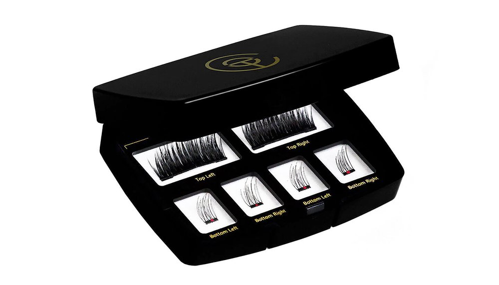 One Two Lash® Magnetic Eyelashes - $59 from www.onetwocosmetics.comAs the world's first magnetic false lash, One Two Lash® is available in six styles, including accent, half-lash, and full coverage options. The breakthrough alternative to messy, damaging, and time-consuming glue-on falsies, the line's patented micro-magnet technology makes the brand not just the first, but also the only magnetic extensions of their kind.