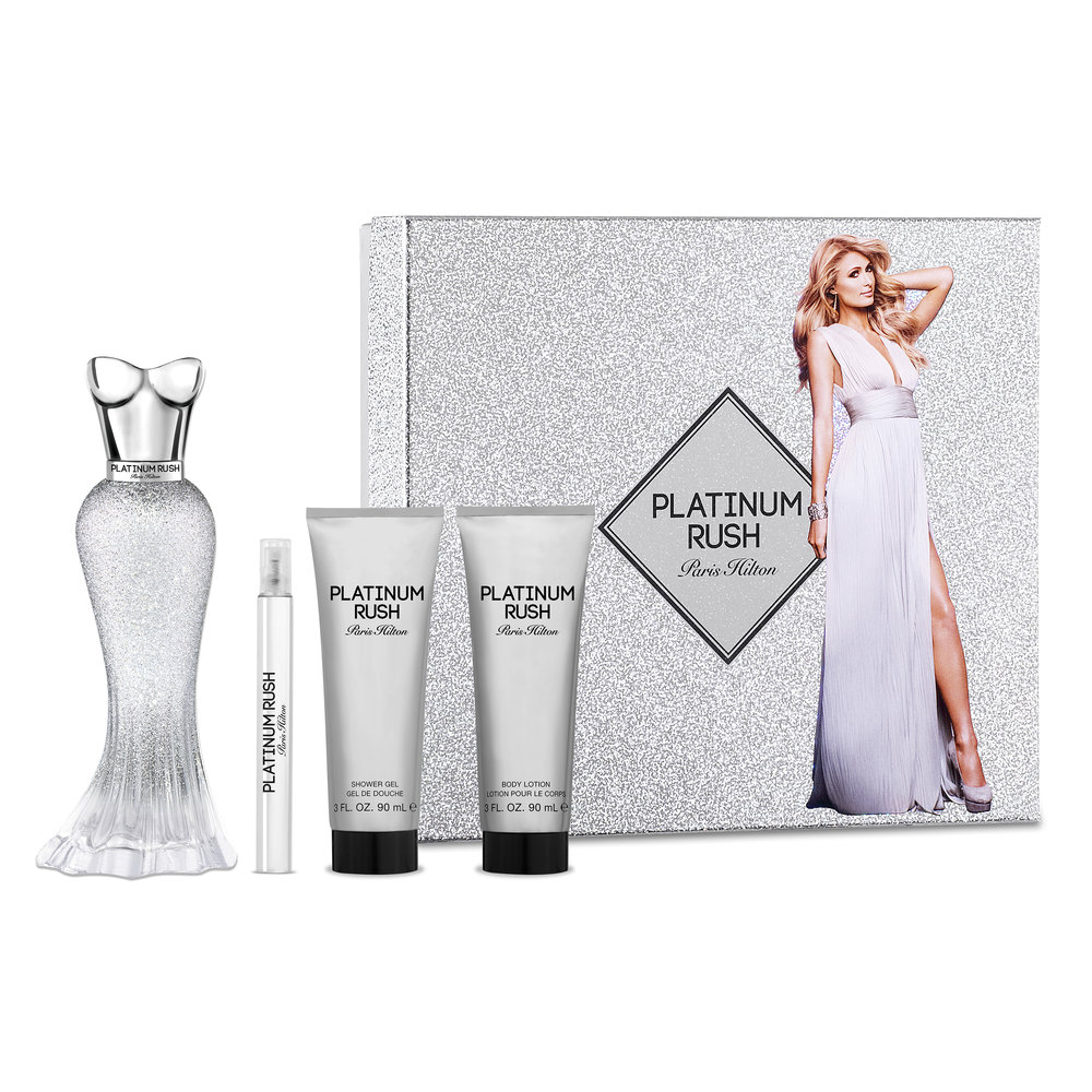 5. Paris Hilton Platinum Rush Gift Set