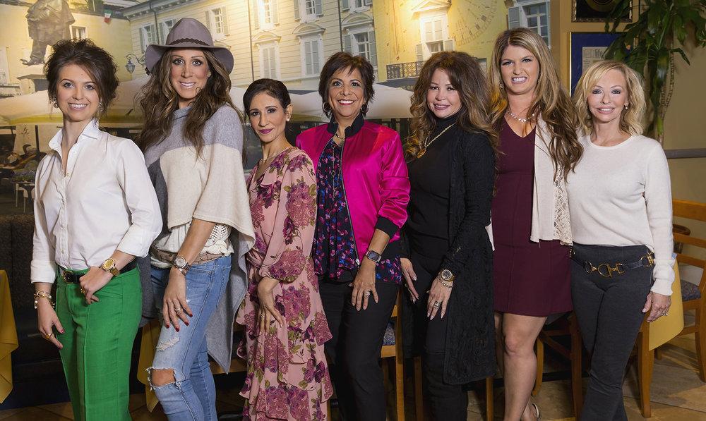 Lauren Barisic, Kathy Stypula, Aida Mohamed, Elaine Steitz, Ivette Ibarra, and Rebecca Abell