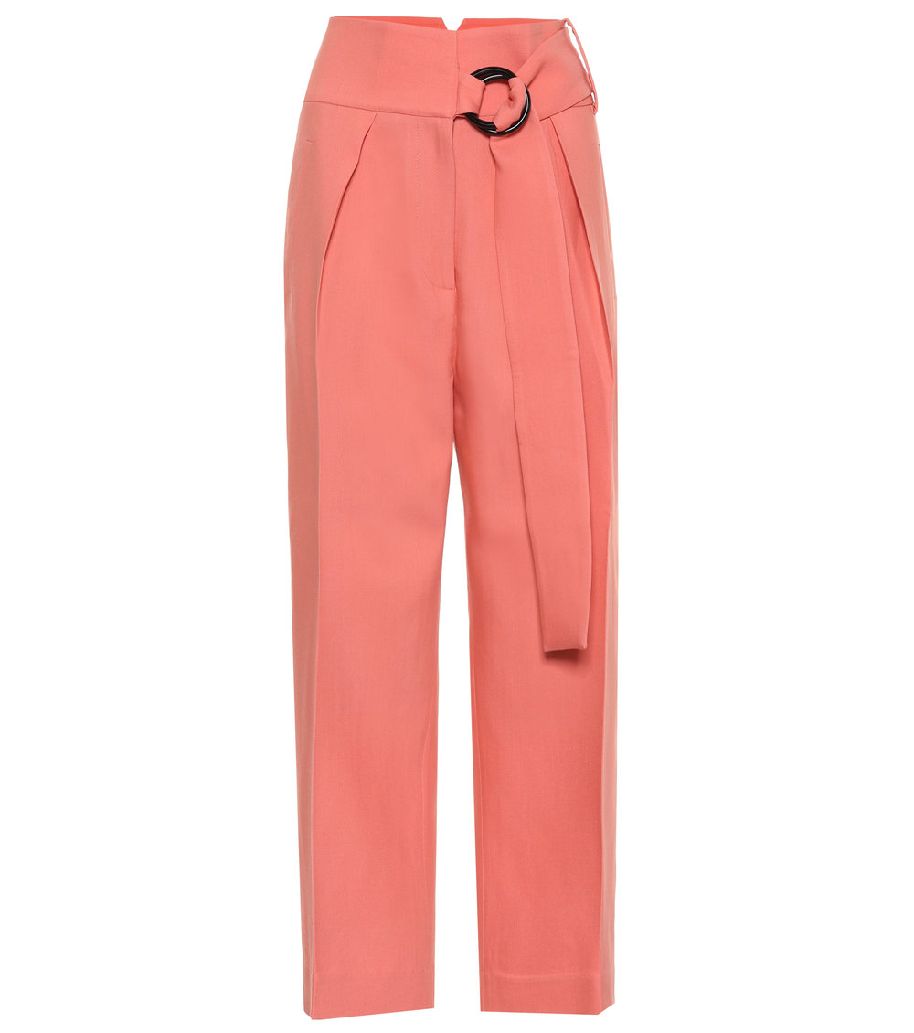 4. Petar Petrov Hayes High-Rise Wool and Silk Pants $855 from www.mytheresa.com
