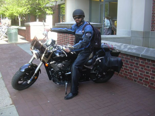 I love riding motorcycles. This is the first one I owned - a Suzuki Boulevard. I have rode across the U.S. twice on the back of this motorcycle. I've ridden across Qatar, United Arab Emirates and parts of Saudi Arabia on the only other bike I've owned - a Harley Davidson Sportster. I prefer the Suzuki.