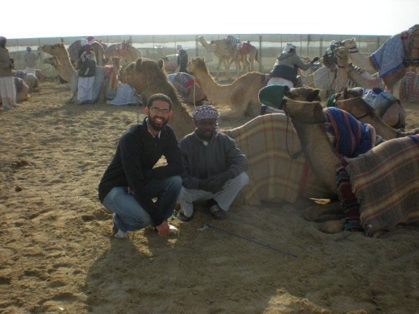 I'm a big fan of camels. I used to wake up early and go to the camel races in Qatar to talk to the camel trainers and meet their camels.