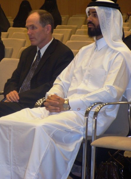 I used to teach at Qatar University in Doha. I wore the traditional thobe and kufea (head dress) and taught at both the men's campus and the women's campus.