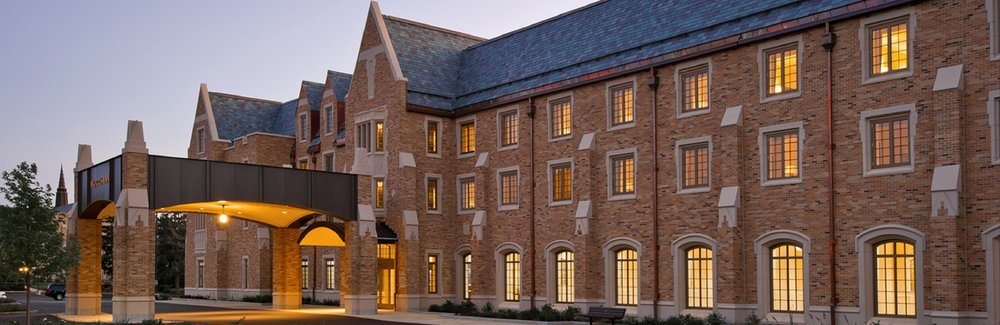 Morris Inn, the hotel for Psychology & Peace 2018. Photo courtesy of University of Notre Dame