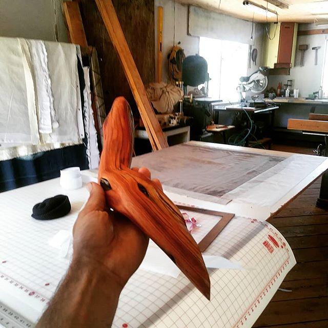 Treatment for the eventual Shogi acoustic screen's framing in my hand here. oiled Manzanita. grometting the Los Angeles river print today for lacing to this style of Manzanita frame later in week . . #hearsight #hearsight #portlandmusic #seattlemusic #indiemusic #supportlocalmusic  #localmusic #localshows #losangelesmusic #lamusic #pitchfork #losangelesmusicans #leedcertified #ecoresponsible #portland #pnwmusic #seattlemusicscene #indieartists #singersofinstagram #liveforlivemusic #indieartist #recordingartist #songwriter #bandlife #houseshow #vortexmagazine #behindthescenes #loudspeaker #amplifier #lariver #manzanita