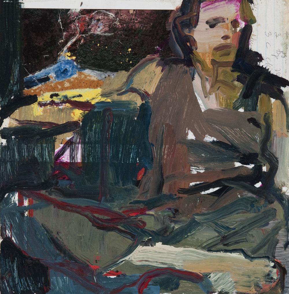 Painter-Baker 12 x 12 oil, collage panel.jpg
