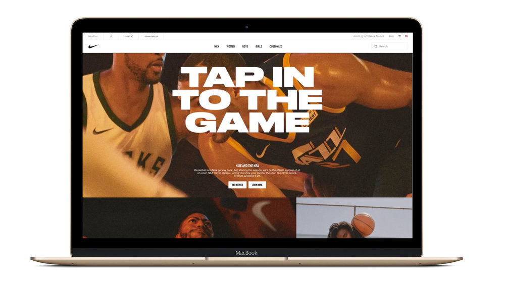 nike.com showing how the launch came to life. Images from Nike Brand Design.