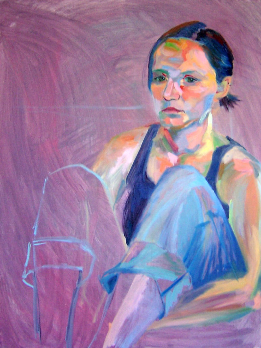 "Oil on canvas, 18x24""  2007."
