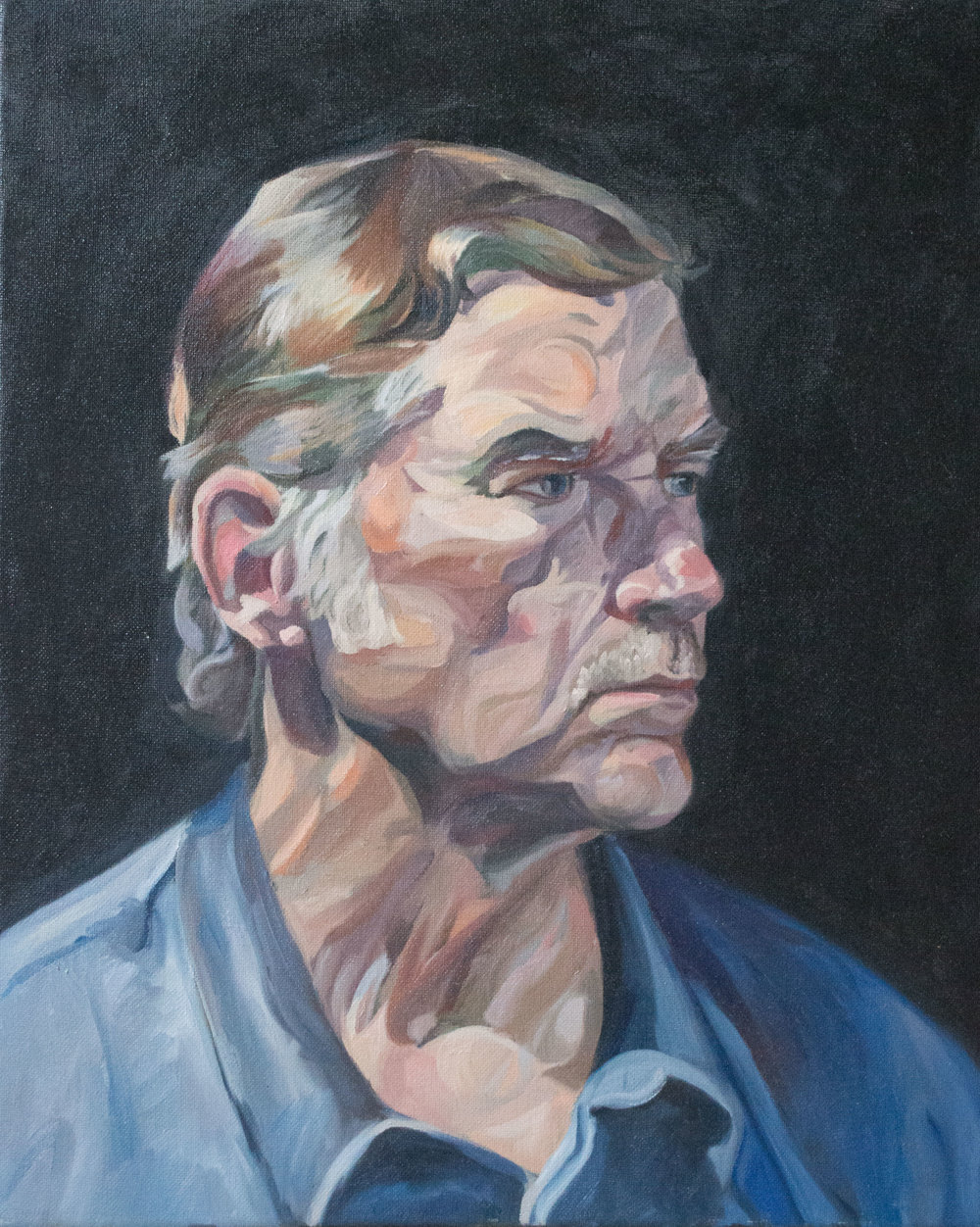 """Steve, an exploration""  Oil on canvas, 16""x20"".  Awarded first place in juried show"