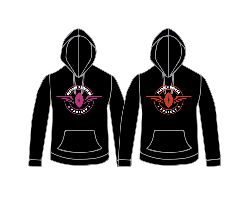 "PIGSKIN HOODIE - From Children's Sizes to Adult Sizes, Get the Gear before they are sold out ""again"""