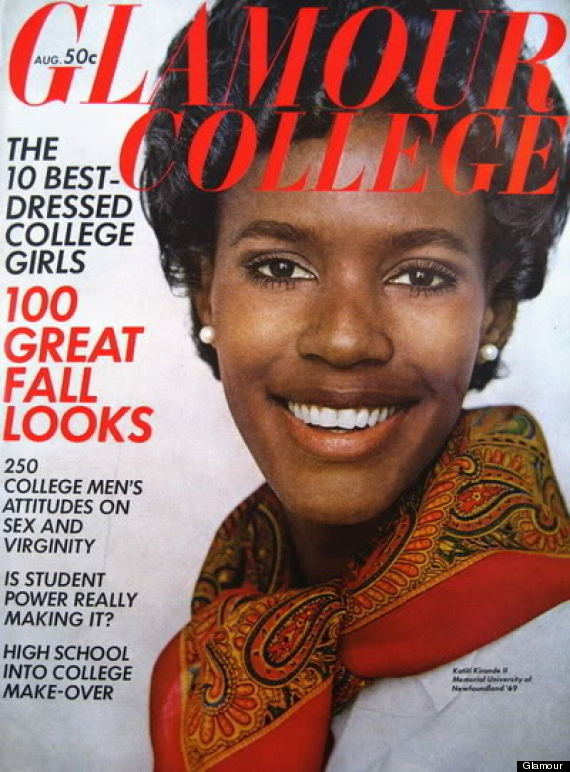 Katiti Karonde was the first black model to appear on the cover of  Glamour  magazine.