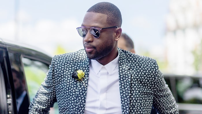 Dwyane Wade outside Dior Homme during the Paris Fashion Week Menswear Spring/Summer 2017 in Paris. Christian Vierig/Getty