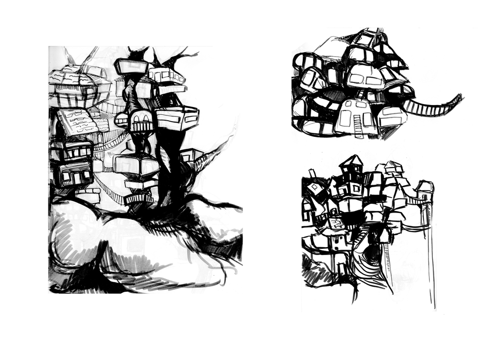 Elevated Village of the Beast Concepts