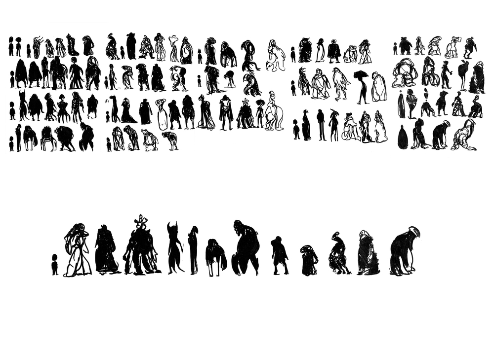 Alien Crew Silhouettes and Line Up