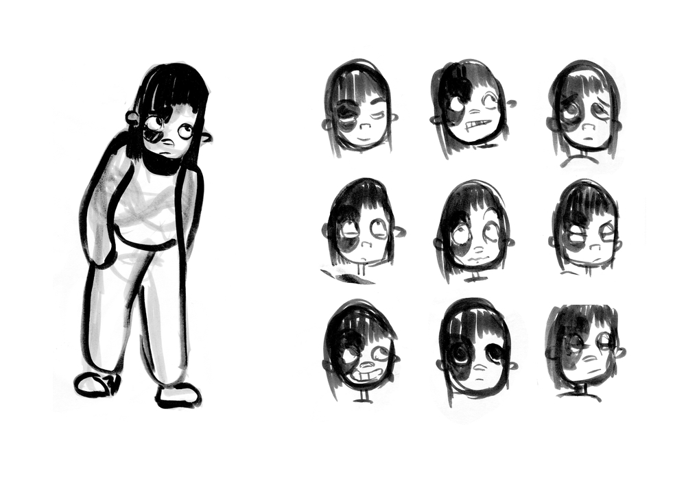 Rava Expression Sheet    How expressions would work on this show is that a characters face can squash and stretch in order to express emotions.