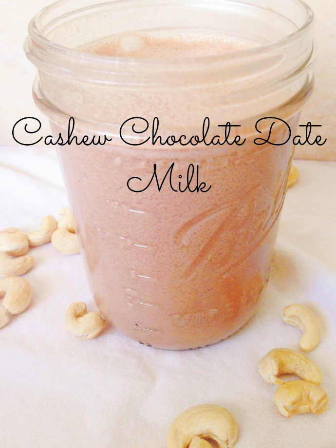 cashew chocolate date milk - this little joy