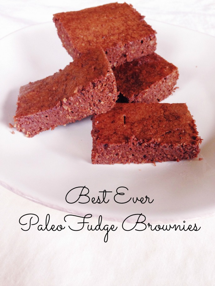 best ever paleo fudge brownies - this little joy