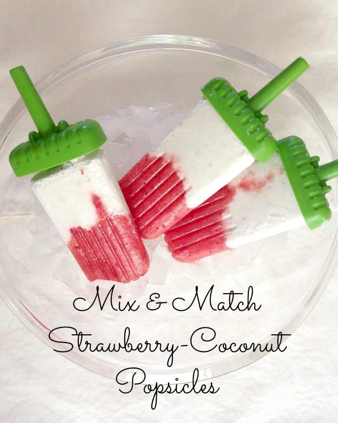 mix + match strawberry coconut popsicles - this little joy