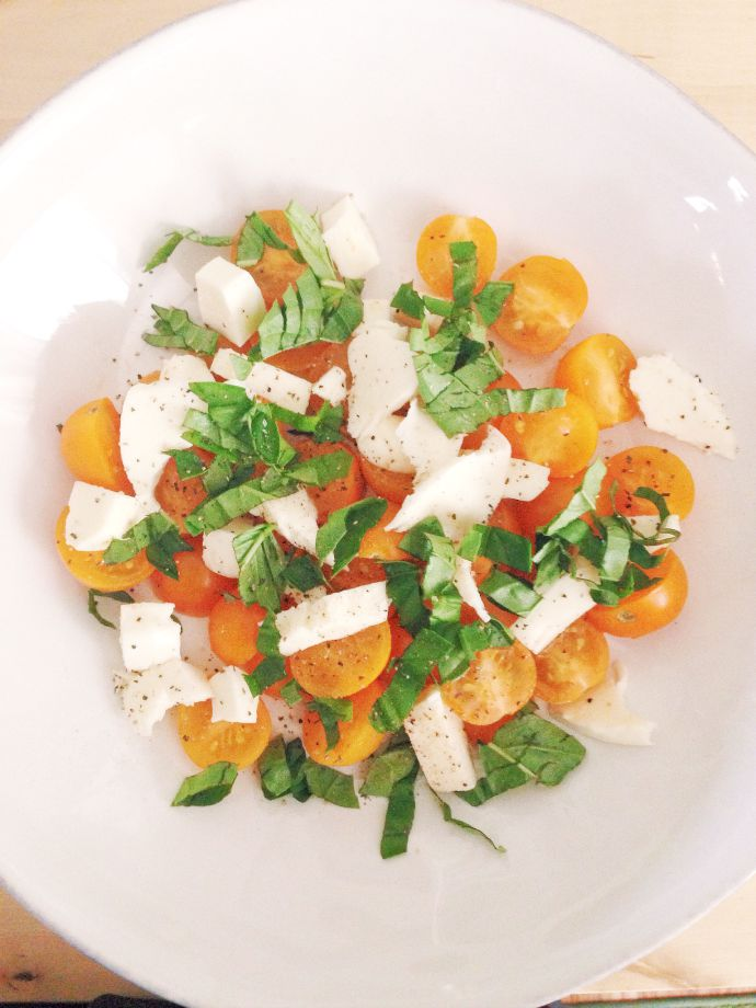 this little joy - fresh caprese salad