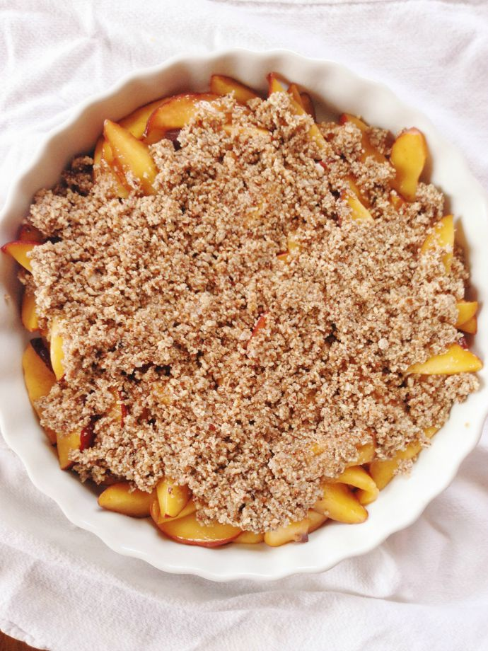 this little joy - paleo peach crisp