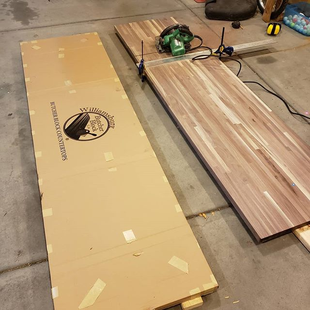 New project. Walnut butcher block soon to be a conference room table.