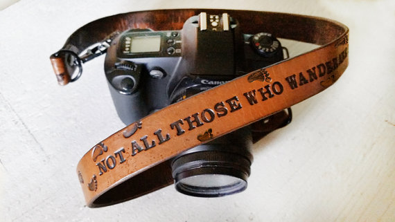 Custom Leather Camera Strap - by MesaDreams