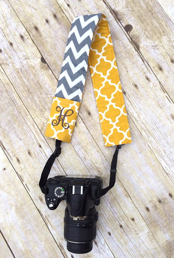 Monogrammed Camera Strap - by LindsaysMonograms