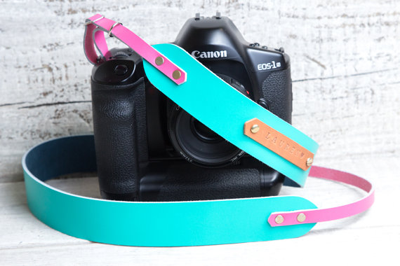 Turquoise Camera Strap - by viveo