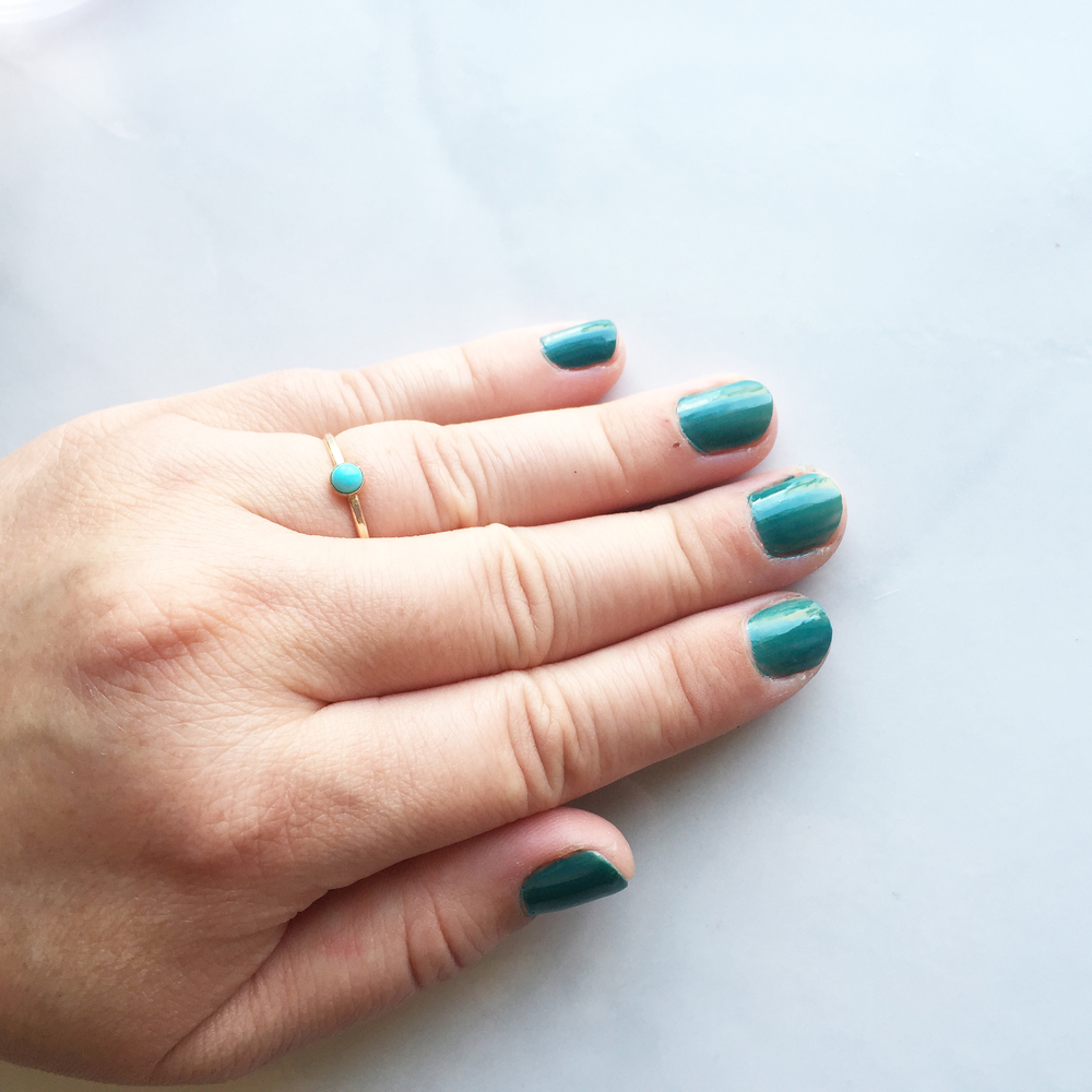 turquoise nails DIY