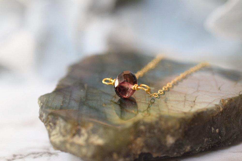 Amethyst Minimalist Necklace
