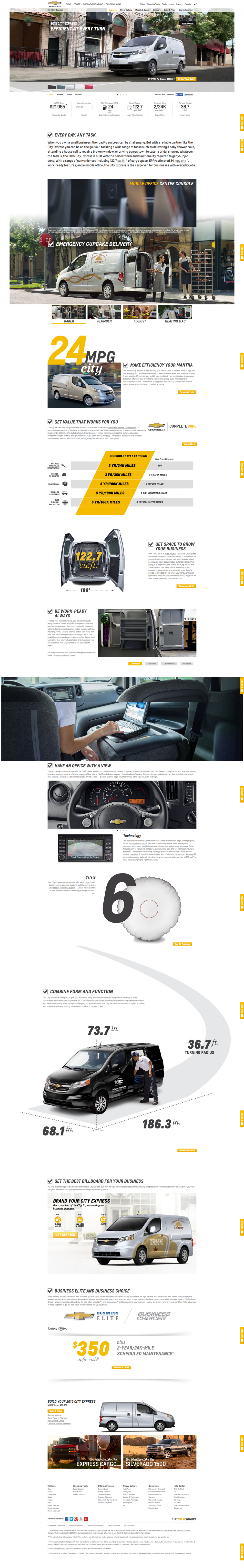 chevrolet.com desktop website