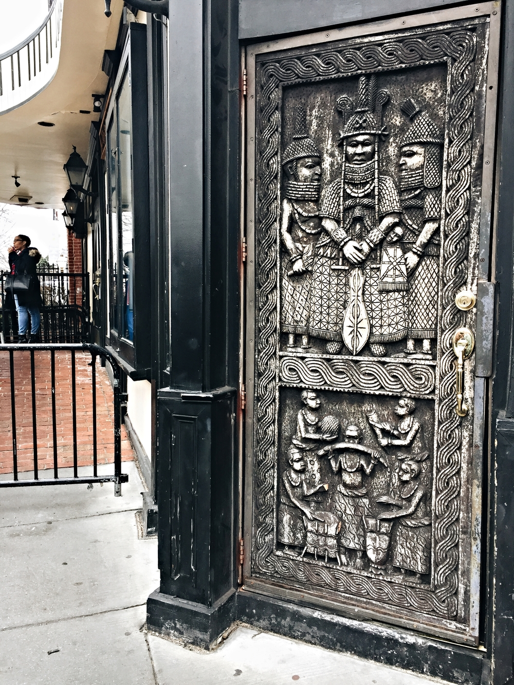 Even the doors of the Bohemian Cavern were beautiful.