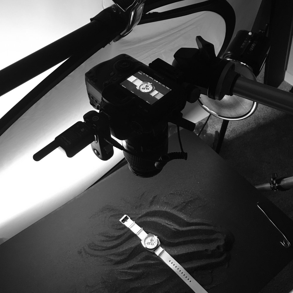 Matic watch photoshoot behind the scenes image