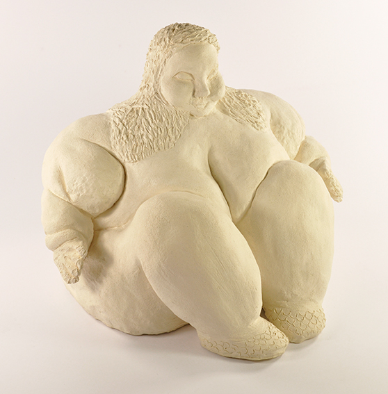 Not Titled (woman with snake skin shoes) , ceramic, 290mm x 230mm x 250mm