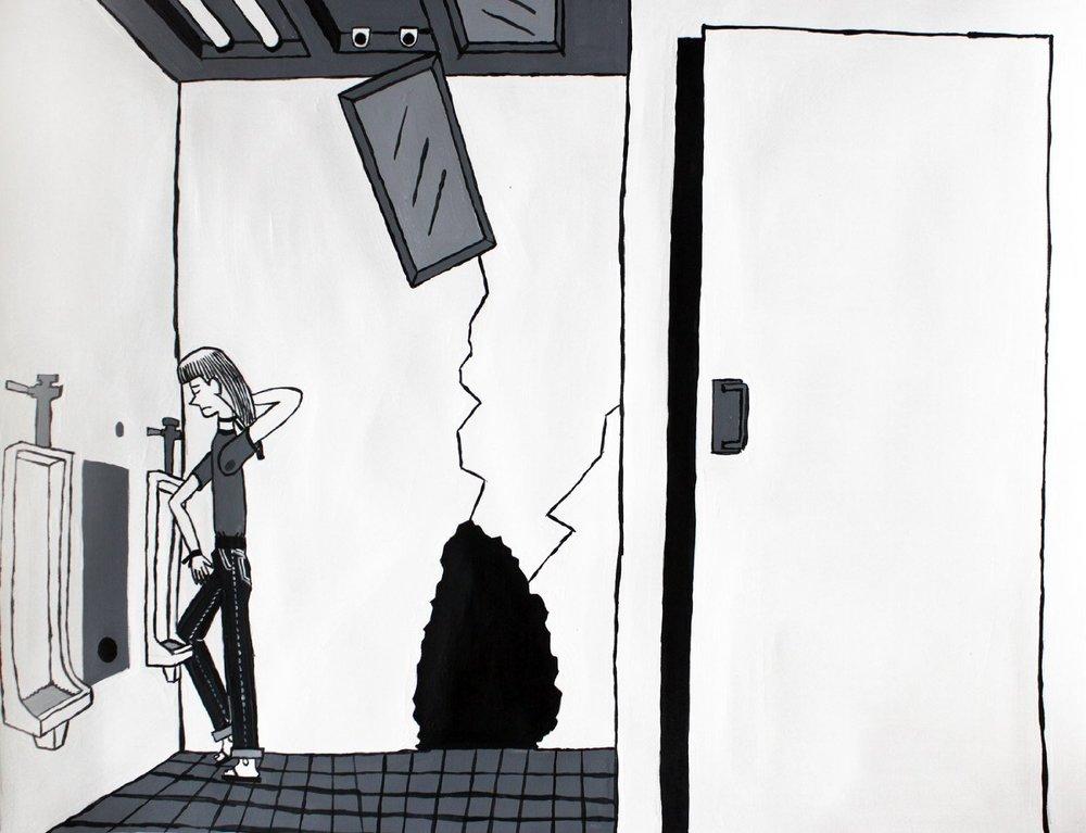"Loner,Acrylic, 18"" x 24"" 2012"