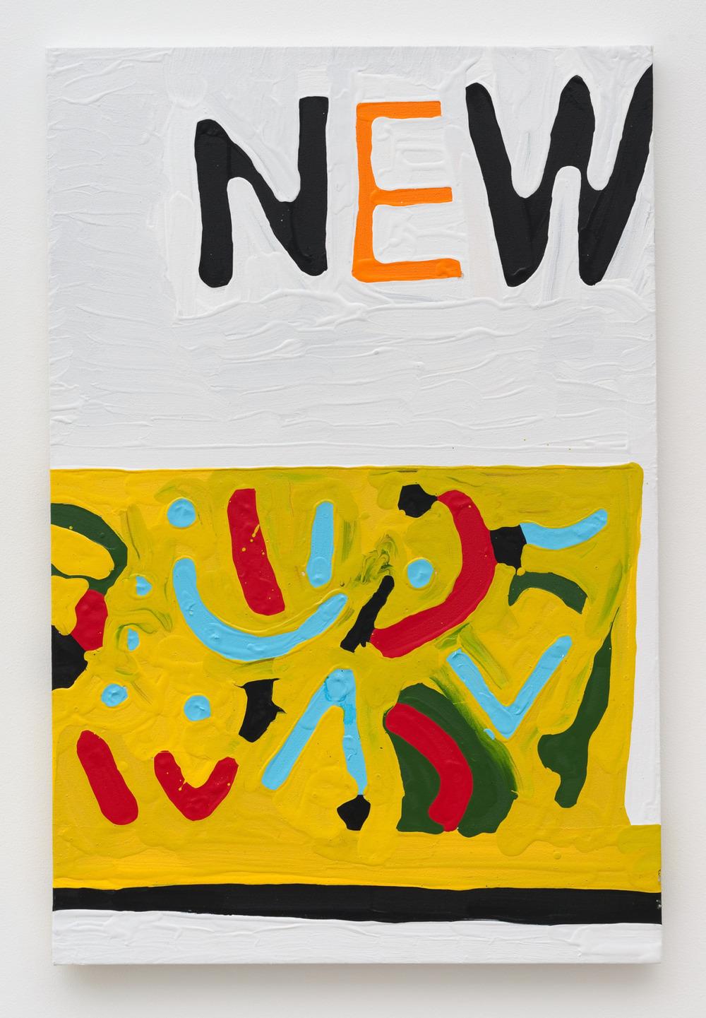 "Marlon Mullen, NEWS (P0329), acrylic on canvas, 24"" x 36"""