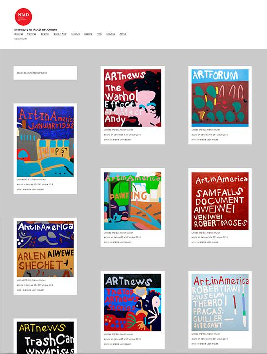 Marlon Mullen's work in NIAD's online archive