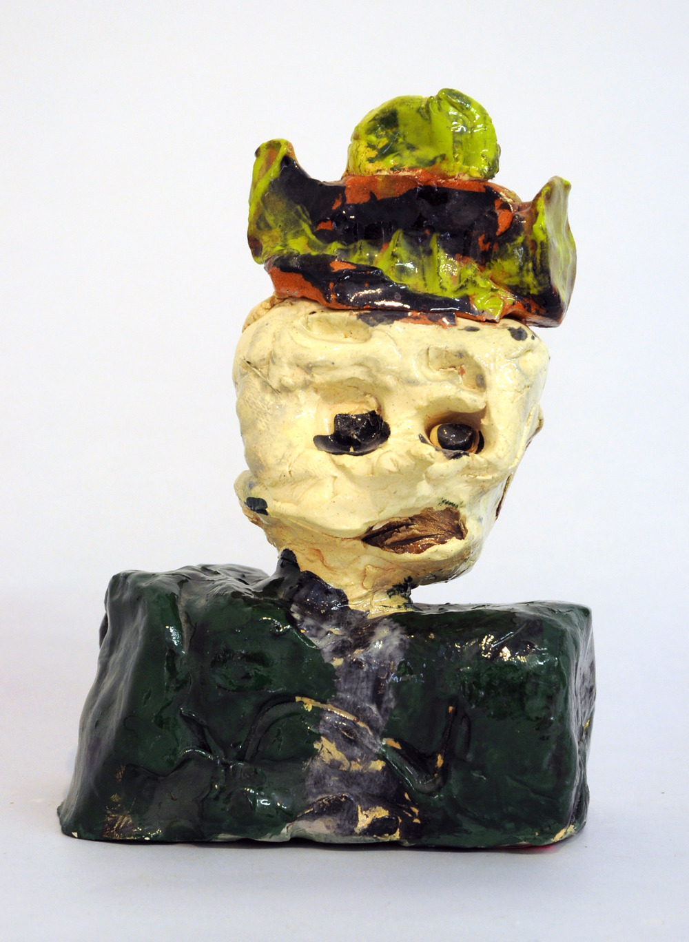 "Jed Clampett , glazed ceramic, 10"" x 7"" x 4"""